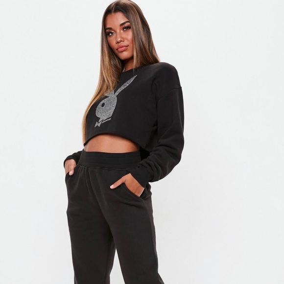 80de131965bc Missguided Tops | Playboy Tracksuit Both Top And Bottom Size 1214 ...